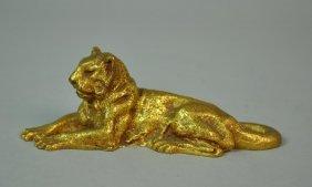 Tiffany Studios Bronze Lion Paperweight