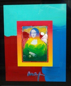 """Mona Lisa On Blends"" By Peter Max"