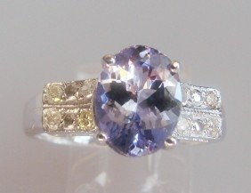 Tanzanite And Diamond Ring - Appraised At $12,470