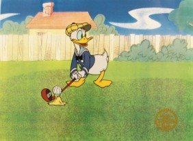 "Walt Disney ""Donald's Golf Game"" Serigraph Cel"