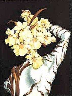 "Dali Ltd Ed. Lithograph ""Surrealist Flower"""