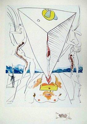 Salvador Dali Limited Edition Litograph - Philosop