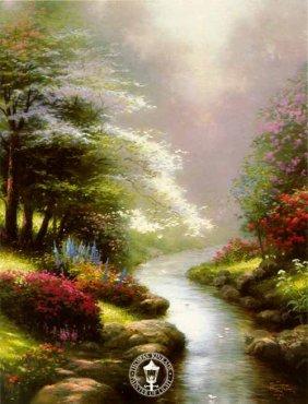 "Thomas Kinkade ""Petals Of Hope"""