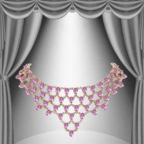 Genuine 59 CT Amethyst Elegance Necklace