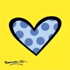 "Art Print By Romero Britto ""Bee Bop Love"""