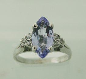 Diamond & Tanzanite Ring Appraised $6,150
