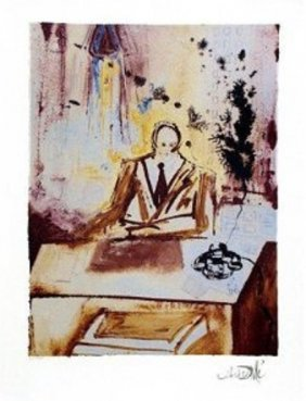 "Dali Ltd Ed. Lithograph ""The Businessman"""