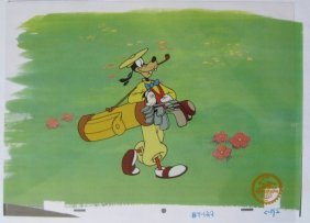 "Walt Disney ""How To Play Golf"" Serigraph Cel"