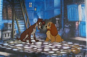 "Walt Disney ""Lady And The Tramp"" Serigraph Cel"