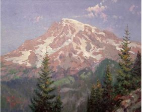 "Thomas Kinkade ""Mount Rainier"""