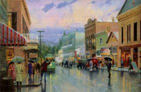Thomas Kinkade Main Street Trolley