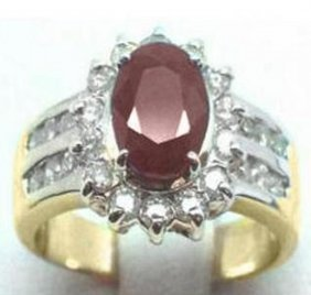Ruby And Diamond Ring - Appraised At $8,600
