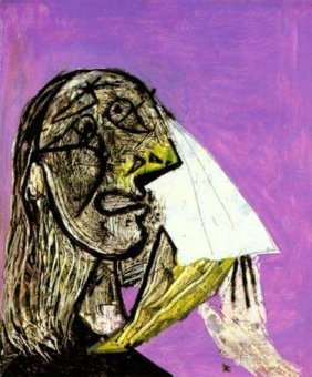 WEEPING WOMAN Picasso Estate Signed Gicl�e
