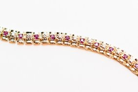 1.83 CTW Diamond And Ruby Tennis Bracelet