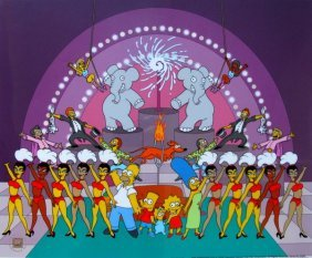 The Simpsons Viva Circus Animation Sericel