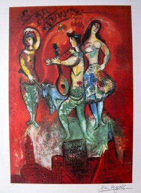 Marc Chagall Carmen Limited Ed. Plate Signed Lithograph