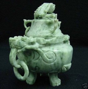 Real Jade Incense Burner