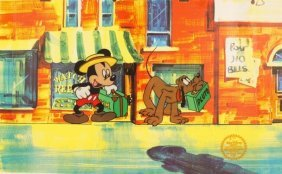 "Walt Disney ""mr. Mouse Takes A Trip"" Serigraph Cel"