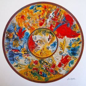 Marc Chagall Paris Opera Ceiling Ltd Ed. Lithograph