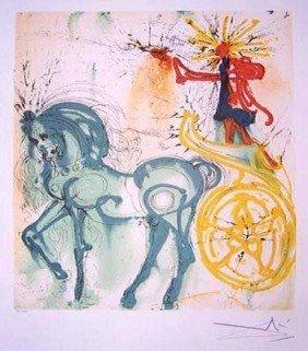 Dali Lithograph Le Cheval De Triomphe