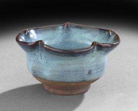 Chinese Jun-Type Pottery Bowl