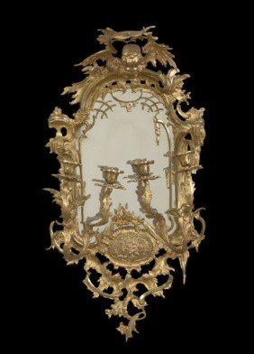 Girandole Mirror In The Chinese Chippendale Taste