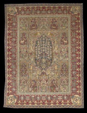 Persian Pictoral Tabriz Carpet