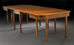 American Federal Mahogany Three-Part Dining Table