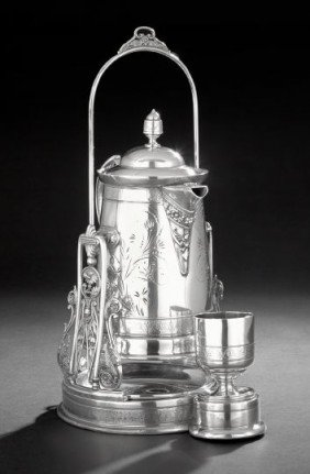American Silverplate Tilting Ice Water Set