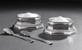 Pair Of George I Britannia Standard Salts
