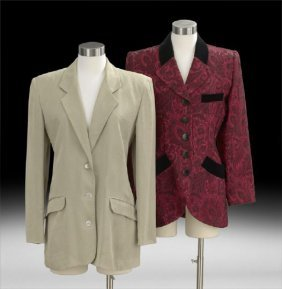Two Vintage Smoking Jackets