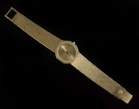 Lady's 18 Kt. Gold And Diamond Concord Wristwatch