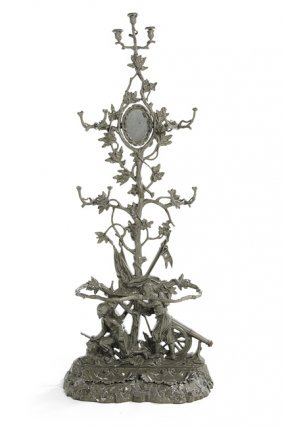 """French Cast Iron """"twig"""" Pattern Hall Stand"""