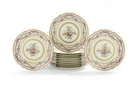 Set Of 12 Louis Xvi-style Polychrome Plates