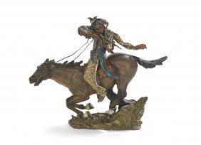Vienna Bronze Of An American Indian Warrior