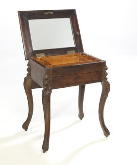American Rococo Revival Rosewood Work Table