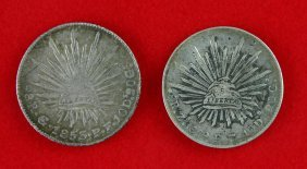 2 Large Early Mexican 8 Reales