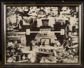 ORIG 8x10 PHOTO COLLAGE OF DACHAU  CONCENTRATION CAMP