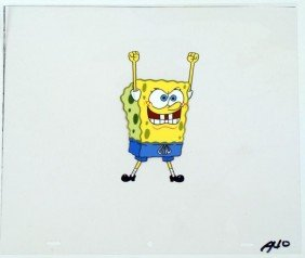 Spongebob Animation Original Production Cel Yes!!!