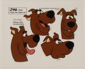 Scooby Doo Expressions Original Model Cel Animation Art