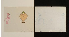 Original Animation Drawing Cel Pink Panther OOPS