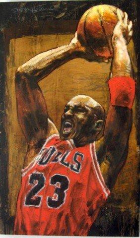 Stephen Holland Signed Michael Jordan Art Print