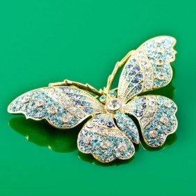 Faberge Butterfly Brooch