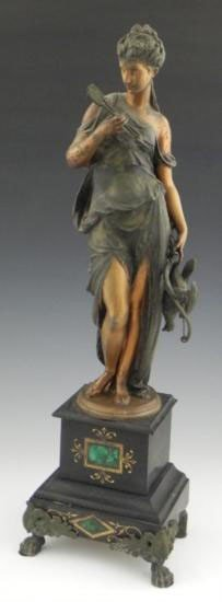 Patinated Spelter Figure Of Diana 19th C
