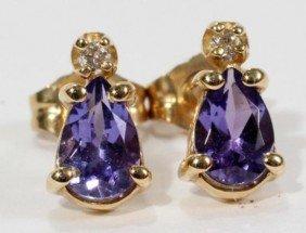 Priceless TANZANITE AND DIAMOND EARRINGS