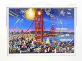 Golden Gate Bridge By Kent 22x32 S/N