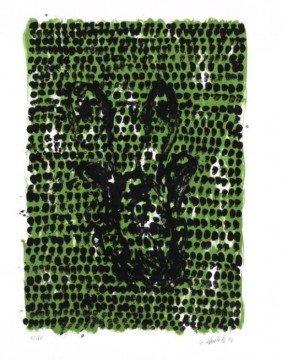 Georg Baselitz Signed Art Print Grunes Tuch 1990
