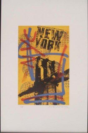 Bobby Hill New York City Signed Urban Pop Art Print