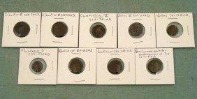 9 Ancient Roman Coins Claudius II Constantius Julian