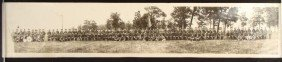 PANORAMIC PHOTO 1923 108TH MEDICAL REG CAMP GRANT IL